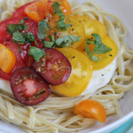 Summer Caprese Pasta Salad for Pompeian #PantryInsiders
