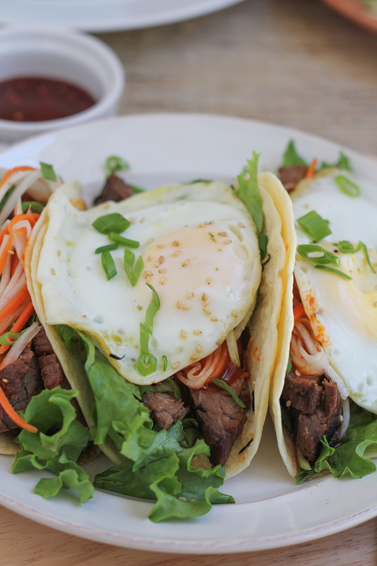 Bibimbap Tacos by Hip Foodie Mom