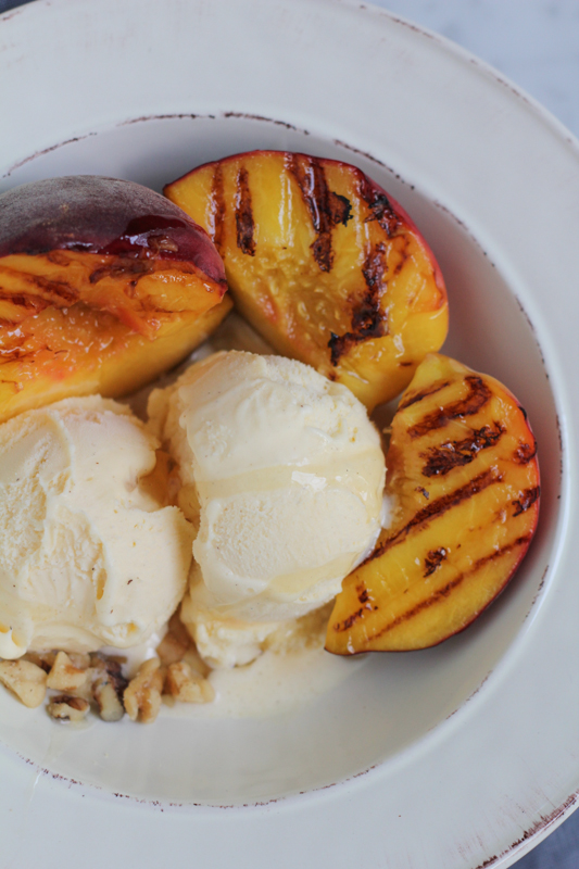 Grilled Peaches and Ice Cream by Hip Foodie Mom_closeup