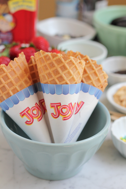 Joy Waffle Cones by Hip Foodie Mom