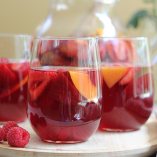 Peach Pink Sangria for #CookfortheCure