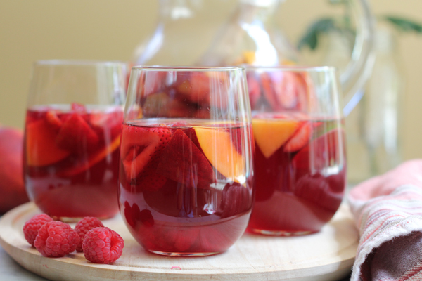 Peach Pink Sangria by Hip Foodie Mom