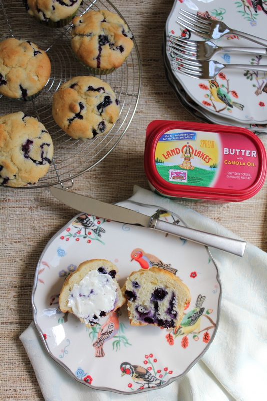 Blueberry Muffins with LAND O LAKES Butter