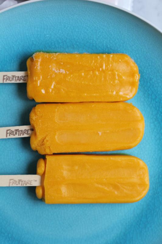 Fruttare Mango Frozen Fruit Bars_on plate