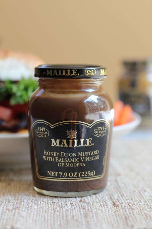 Honey Dijon Mustard with Balsamic Vinegar with sandwich