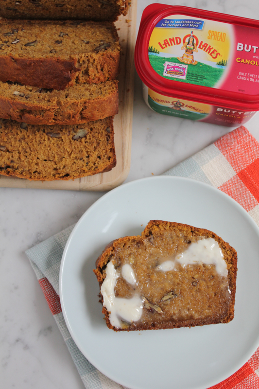 Pumpkin Banana Bread with LAND O LAKES