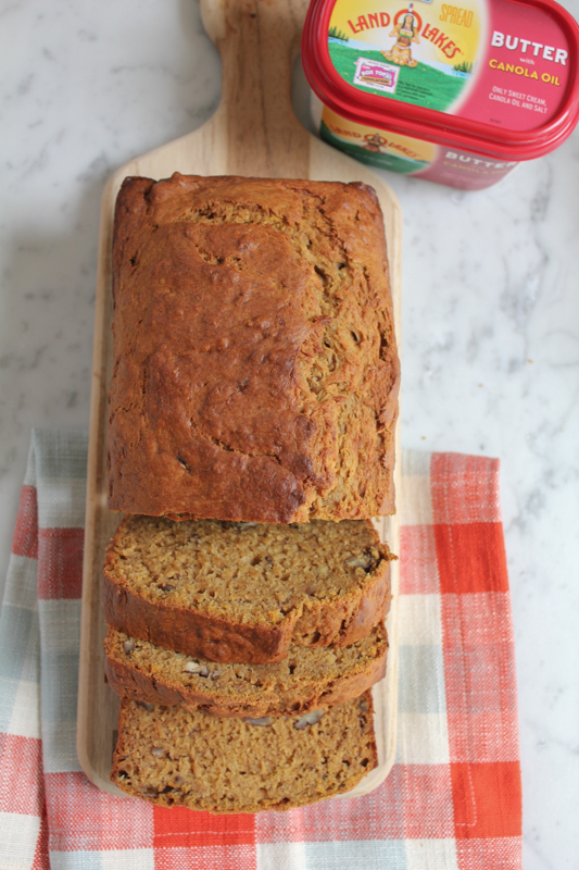 Pumpkin Banana Bread with LAND O LAKES3