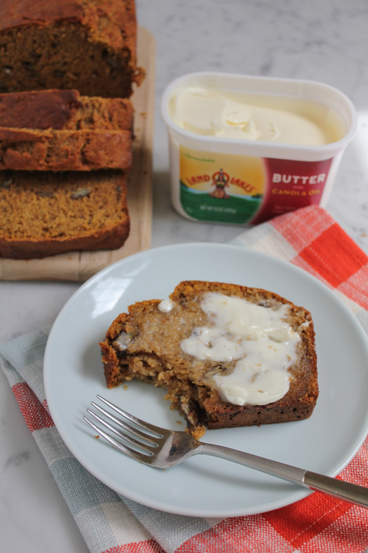 Pumpkin Banana Bread with LAND O LAKES_bite