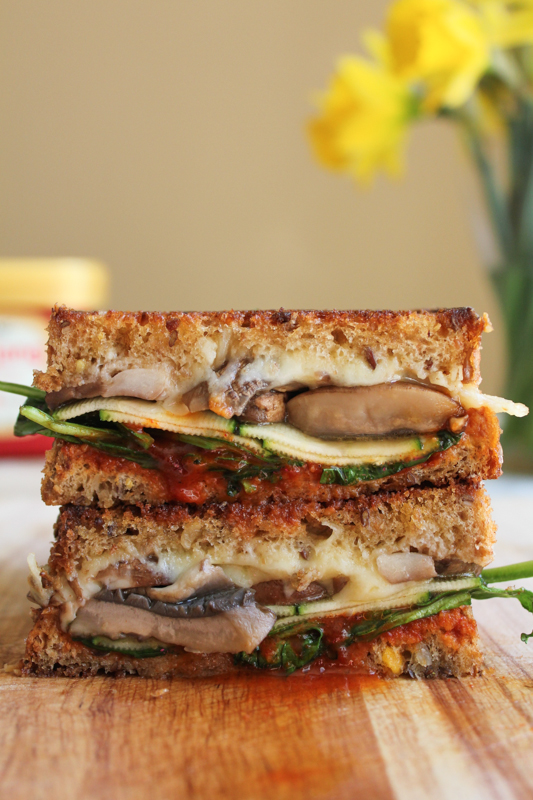 The Ultimate Grilled Veggie Sandwich packed with zucchini, baby ...