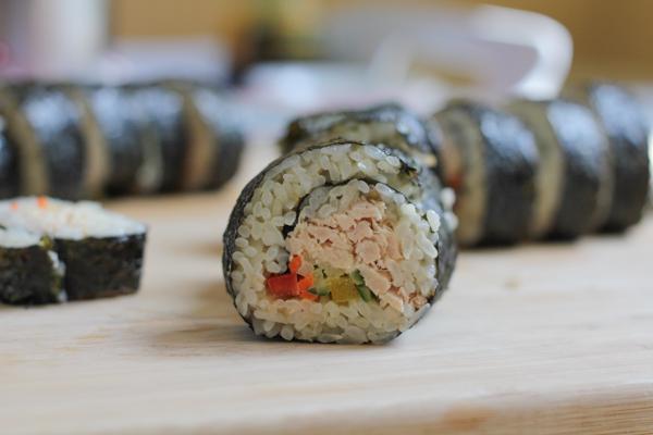 Tuna Veggie Roll_closeup