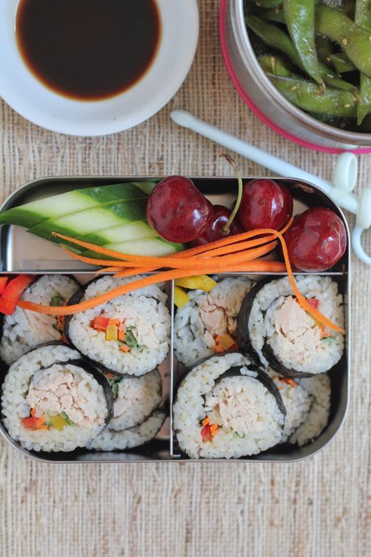 Tuna Veggie Rolls by Hip Foodie Mom