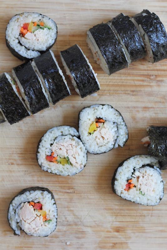 Tuna Veggie Rolls by Hip Foodie Mom_on board