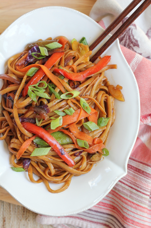 ... at home, in under 30 minutes! Vegetable Lo Mein by Hip Foodie Mom
