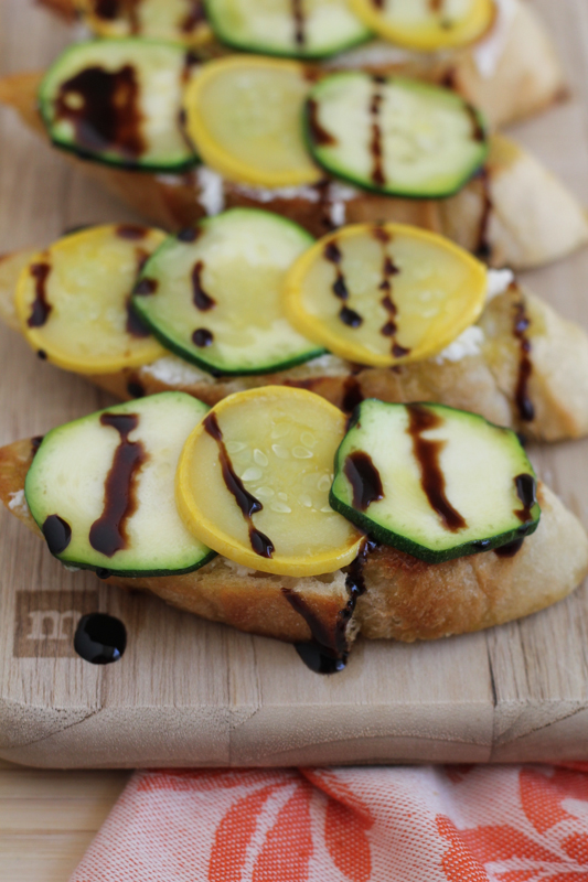 Zucchini and Summer Squash Crostini