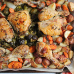 One Pan Roast Chicken with Root Vegetables + A Cookbook Giveaway!