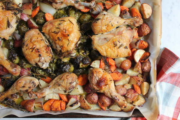 One Pan Roast Chicken With Root Vegetables Main