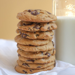 Pumpkin Peanut Butter Chocolate Chip Cookies for #OXOGoodCookies