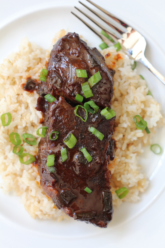 Your kitchen will smell heavenly with this slow cooker SPICY Asian Beef Short Ribs dish! With just 5 ingredients, plus salt and pepper, you've got to try this!