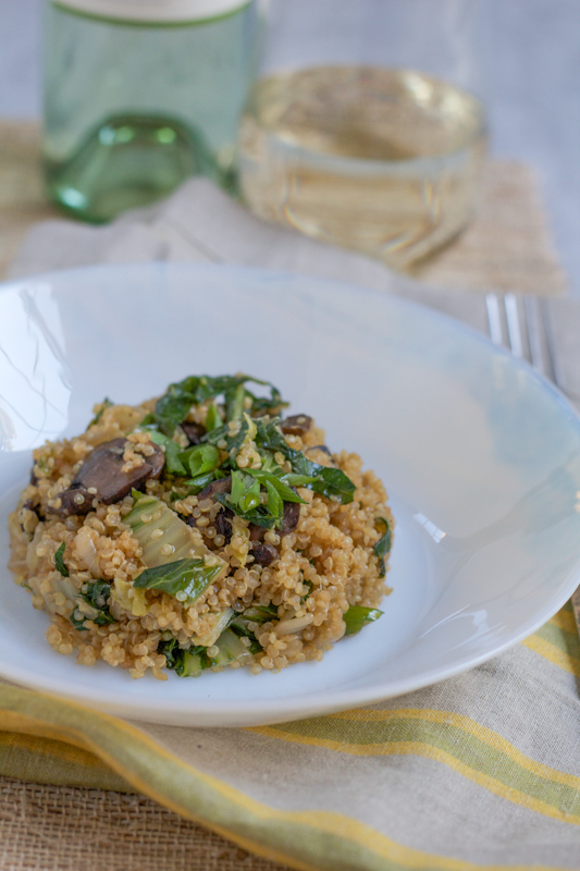 Asian Quinoa. Infused with Asian flavors and packed with bok choy, Chinese cabbage and mushrooms, this is like no quinoa you've ever had before. Delicious!!