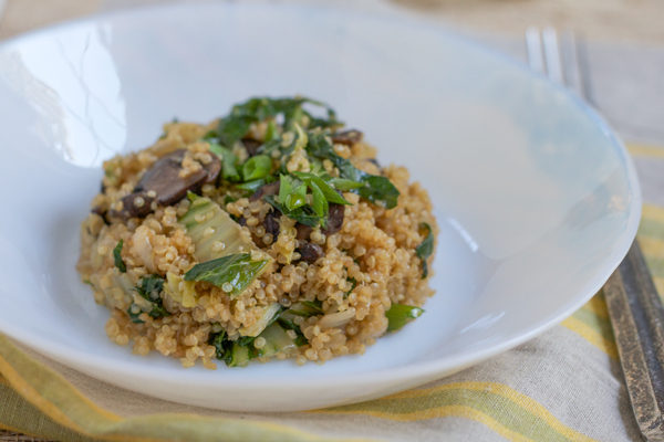 Asian Quinoa With Bok Choy Hip Foodie Mom