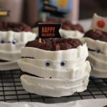 Chocolate Cinnamon Mini Mummy Bundt Cakes for #TruMooHalloween