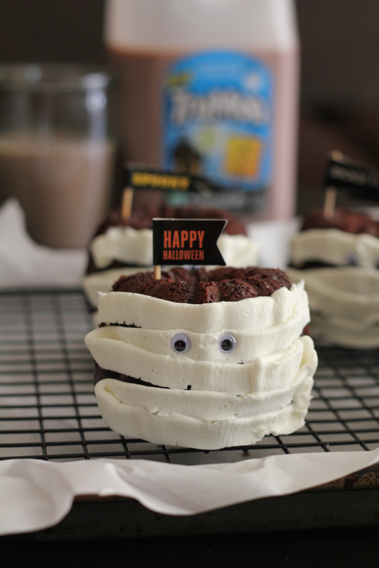 Cinnamon Chocolate Mini Mummy Bundt Cakes by Hip Foodie Mom