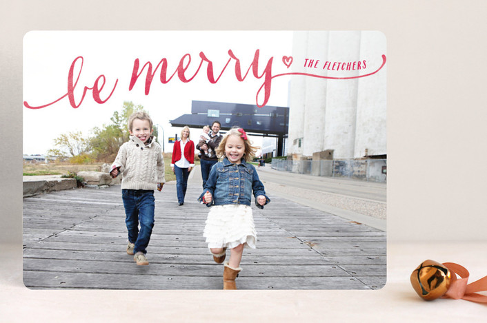 """Be Merry"" from Minted.com  + Enter to win a $50 gift code for the holidays! #giveaway #holidays #minted #holidaycards"