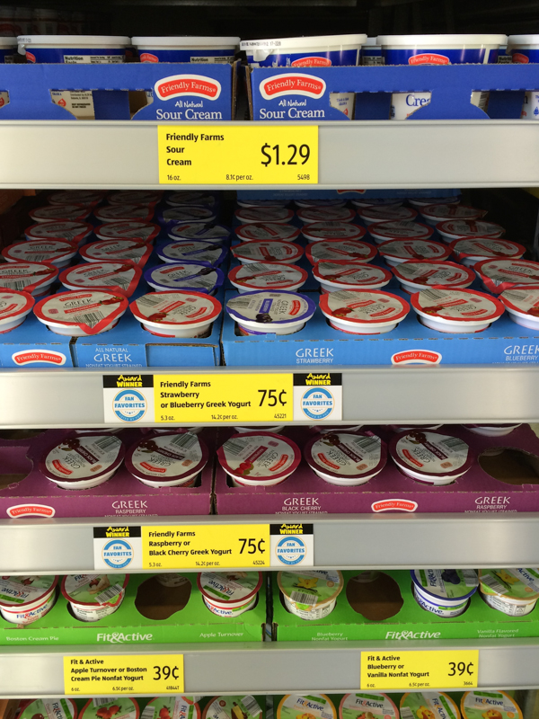 Yogurt and Dairy at ALDI