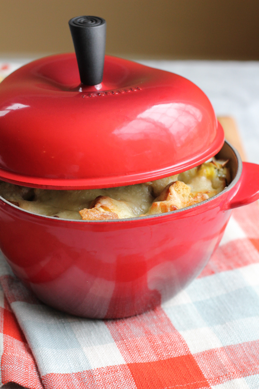 A Giveaway!! Le Creuset Apple Cocoette with Lid!