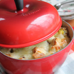 Leek and Artichoke Bread Pudding + A Le Creuset Giveaway!