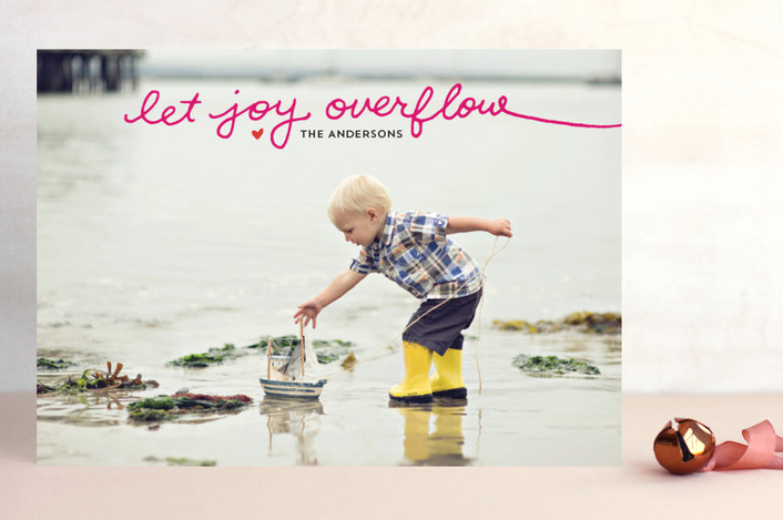 """Let Joy Overflow"" from Minted.com  + Enter to win a $50 gift code for the holidays! #giveaway #holidays #minted #holidaycards"