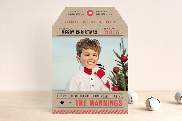 """Merry Christmas Tag"" from Minted.com  + Enter to win a $50 gift code for the holidays! #giveaway #holidays #minted #holidaycards"