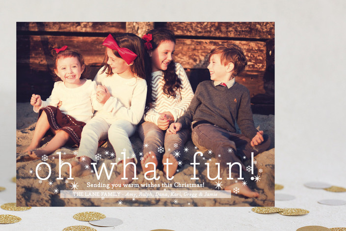 """Oh What Fun"" from Minted.com  + Enter to win a $50 gift code for the holidays! #giveaway #holidays #minted #holidaycards"
