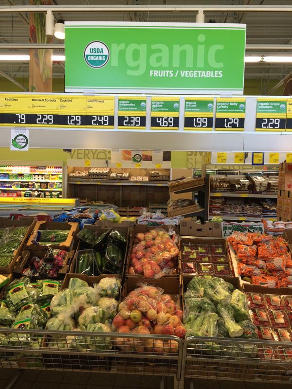 Organic Produce at ALDI
