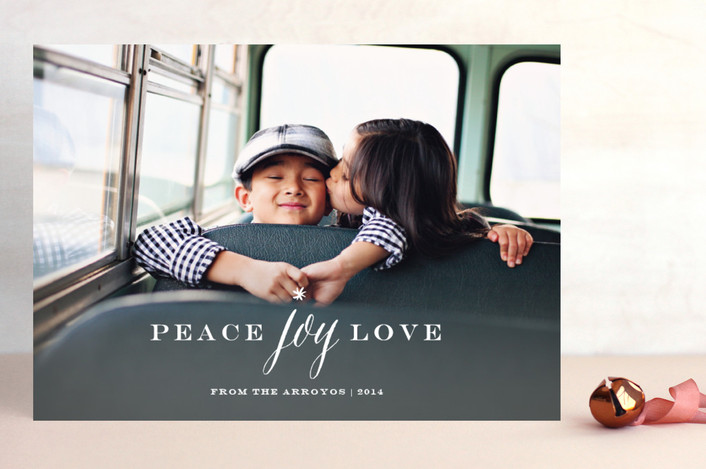 """Peace Joy Love"" from Minted.com  + Enter to win a $50 gift code for the holidays! #giveaway #holidays #minted #holidaycards"