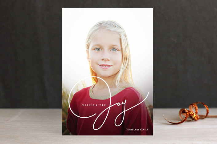 """Wishing You Joy"" from Minted.com  + Enter to win a $50 gift code for the holidays! #giveaway #holidays #minted #holidaycards"