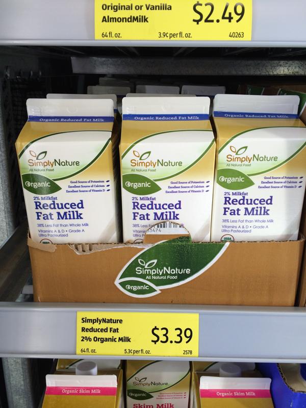 Organic Milk at ALDI