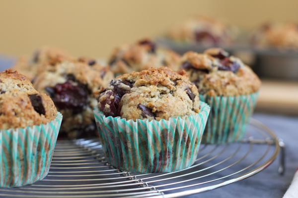 Cherry Chocolate Hazelnut Muffins