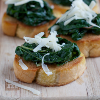 Ina's Bruschetta with Sauteed Chard