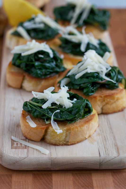 Bruschetta with Sauteed Chard . . this would make a fabulous appetizer for any party!
