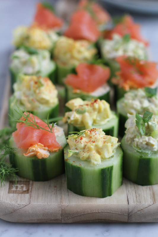 quick and easy cucumber bites three ways hip foodie mom