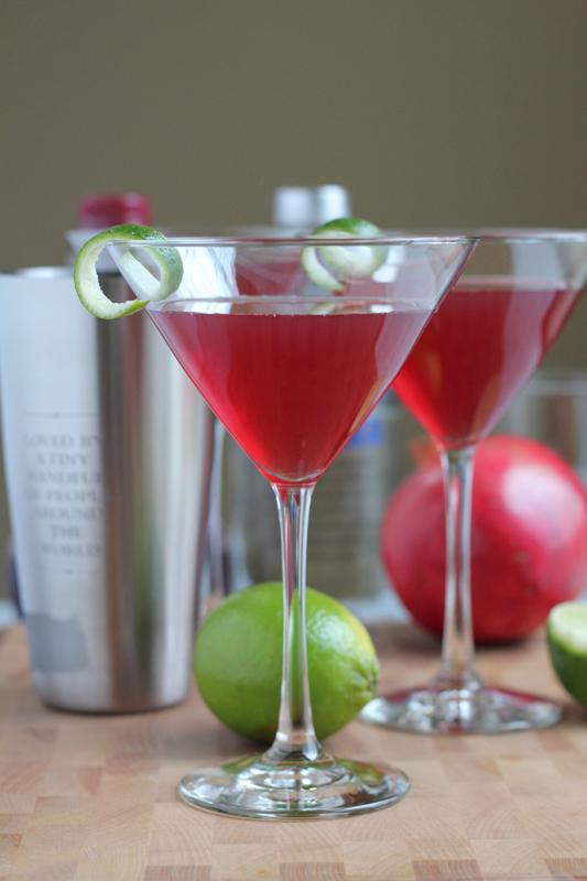 Pomegranate Cosmopolitans - Hip Foodie Mom