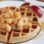 Whole Wheat Hazelnut Waffles with Cinnamon Sautéed Apples