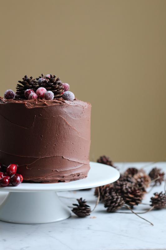 Rich, fudgy, chocolatey goodness . . . with a hint of Merlot. You need to try this cake. #chocolatemerlotcake #baking #holidays #cake #chocolatecake