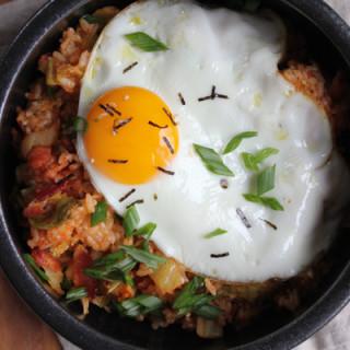 Korean Kimchi Fried Rice Bowl aka. Kimchee Bokkeum Bap