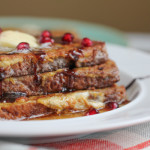 French Toast with Pomegranate Molasses