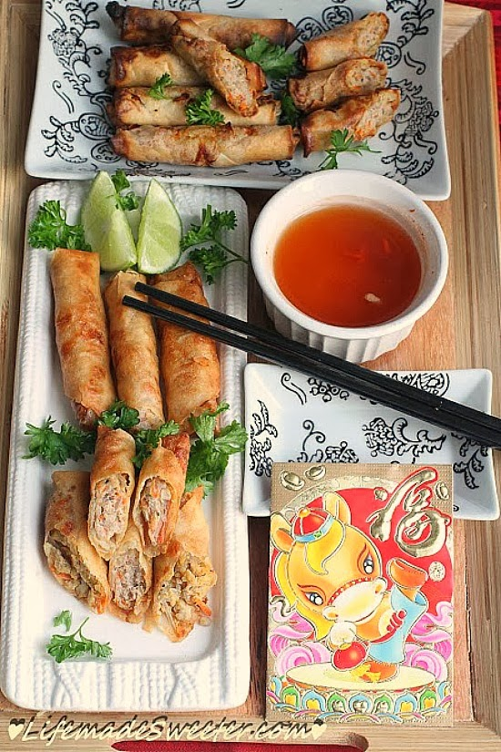 The Shanghai Style Spring Rolls above are from Woks of Life. I love ...