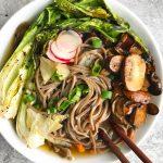 Asian Soba Noodle Broth Bowls for #SundaySupper