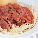 Fettuccine with Slow Cooker Bolognese