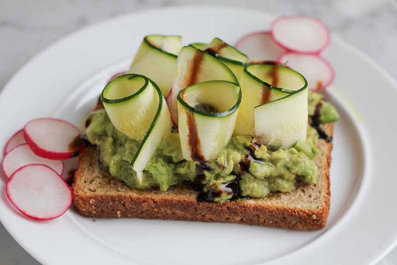 Avocado Toast with Raw Zucchini Ribbons